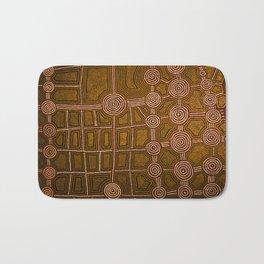 Aboriginal background Bath Mat