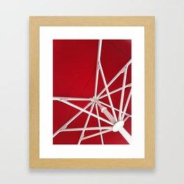 White Lines Framed Art Print
