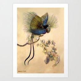 """The Beautiful Bird of Paradise"" Art by Warwick Goble Art Print"