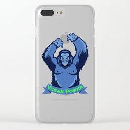 Gorilla Monkey Vegan Power Plants Vegetarian Gift Clear iPhone Case