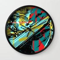 metal gear Wall Clocks featuring Metal Gear Rising by Schuun