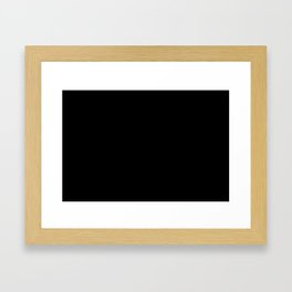 #000000 PURE BLACK Framed Art Print