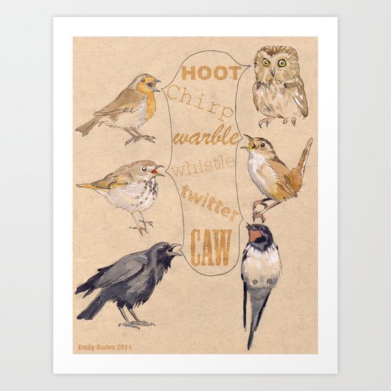 Bird Sounds Art Print