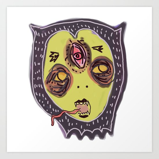 Gastric bypass DEMON face Art Print
