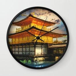 Kinkaku-ji Temple Kyoto - Japan - Digital Oil Painting Wall Clock