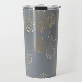 Golden Leaves - Gray Travel Mug