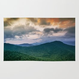 A Scenic Mountain View in Late Spring Rug