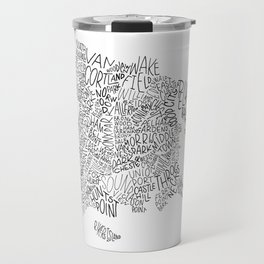 Bronx - Hand Lettered Map Travel Mug