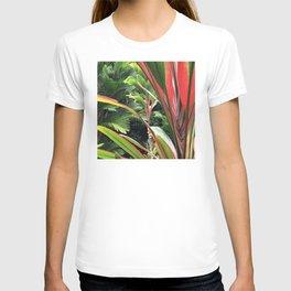 Hawaiian Wild Garden in the Jungle Rainforest T-shirt
