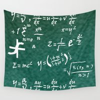 math Wall Tapestries featuring Math Equations by WIGEGA