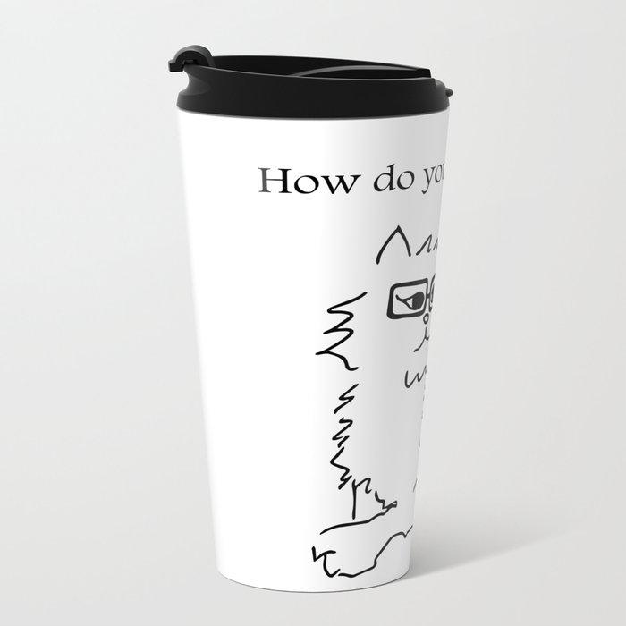How Do You Like Meow Hipster Kitten Metal Travel Mug