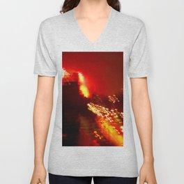 Brooklyn Lights, Fireworks, BedStuy, 4th of July Unisex V-Neck