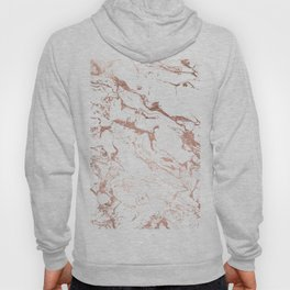 Modern chic faux rose gold white marble pattern Hoody