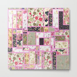 Quilt patterns style Metal Print