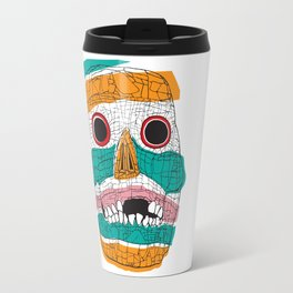 Stripy Skull  Travel Mug