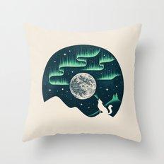 Arctic Tune Throw Pillow