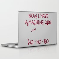 die hard Laptop & iPad Skins featuring Die hard: Now I have a machine gun Ho-Ho-Ho by dutyfreak