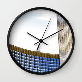 modern buildings with blue at Las Vegas, USA Wall Clock