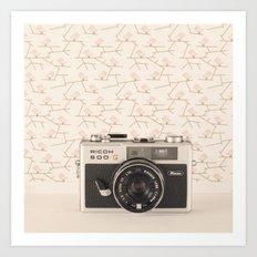 Film Camera (Retro and Vintage Still Life Photography)  Art Print