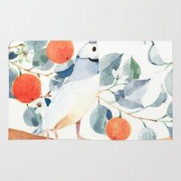 Gouldian Finch and Orange Tree Rug