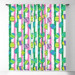 Easter splatter stripe Blackout Curtain