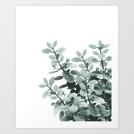 Eucalyptus Leaves Green Vibes #1 #foliage #decor #art #society6 Art Print