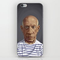 pablo picasso iPhone & iPod Skins featuring Celebrity Sunday ~ Pablo Picasso by rob art | illustration