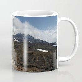 Panoramic view of fumaroles activity active volcano on Kamchatka Peninsula Coffee Mug