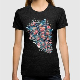 Rose Gold Dragonfly Garden | Pastel T-shirt