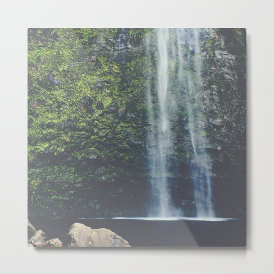 Wanderlust Waterfall in Nature Metal Print