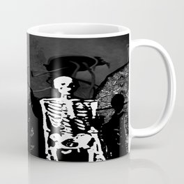 Dr. Hughes And The Skeleton In His Classroom Coffee Mug