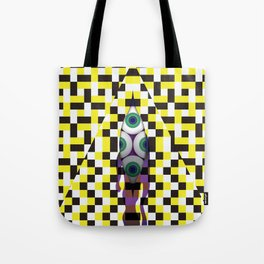 Eyes with Yellow and Black Tote Bag