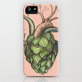 Heart Hops in Pink iPhone Case