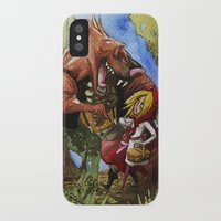 red hood iPhone & iPod Cases featuring Red Hood by Jose Luis Ocana