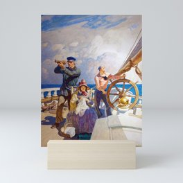 N.C. Wyeth They Took Their Wives with Them on Their Cruises Mini Art Print