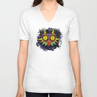 majoras mask V-neck T-shirts featuring Majora's Mask Splatter by Greytel