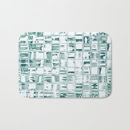 Green glassy look tiles or marble look abstract background design Bath Mat
