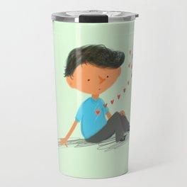 Boy in Love Travel Mug