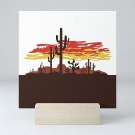 Southwestern Desert Sunset Mini Art Print