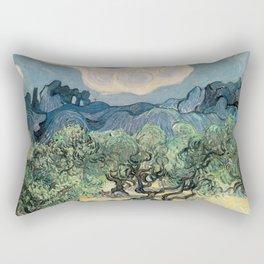 Vincent van Gogh, Olive Trees. Rectangular Pillow