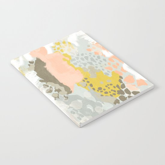 Upton - Abstract painting perfect for dorm room phone case abstract art and feminine abstract art Notebook