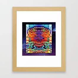 Space mushroom cloud Framed Art Print