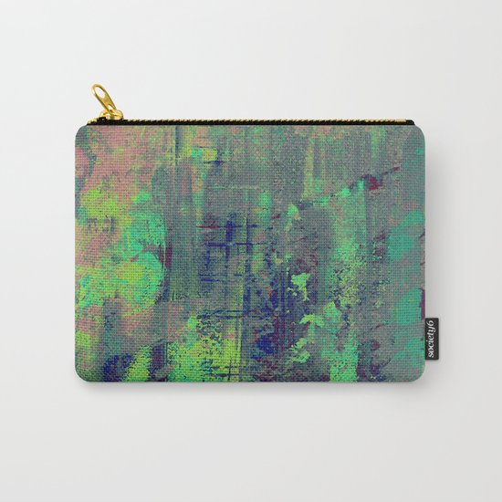 Aqua Abstract Carry-All Pouch