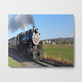 Steam Locomotive Metal Print