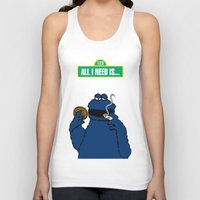 cookie monster Tank Tops featuring Cookie Monster by M.REYES