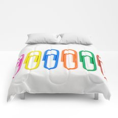 Colorful Paperclips Comforters