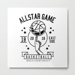 All Star Basketball Metal Print
