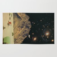 camping Area & Throw Rugs featuring Space camping by Blaz Rojs
