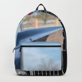 Vintage Car // Rolls Blue Paint Hood Ornament Silver Grille Classic Backpack
