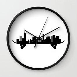 Skateboard City Art Wall Clock